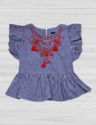 Tiny Girl cotton fabric blue top