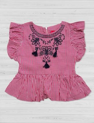 Tiny Girl cotton pink top