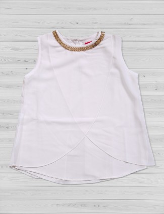 Tiny Girl crepe fabric white top