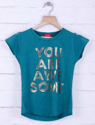 Tiny Girl green colored cotton casual top