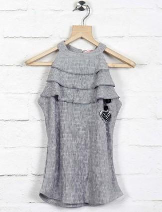 Tiny Girl grey cotton top