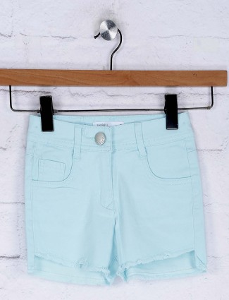 Tiny Girl light blue color denim shorts for casual wear