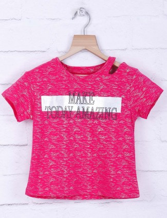 Tiny Girl magenta color hue knitted top