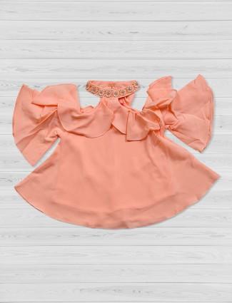 Tiny Girl peach festive top
