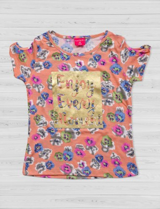 Tiny Girl Peach printed top