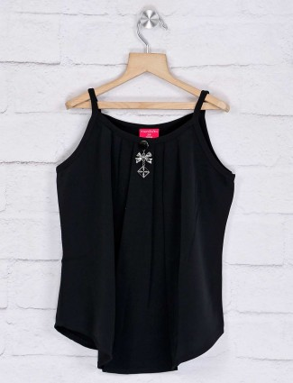 Tiny Girl pink black solid sleeveless top