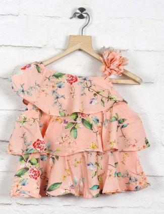 Tiny Girl pink hue cotton top