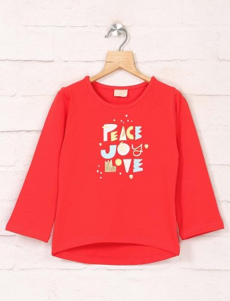 Tiny Girl presented printed red top