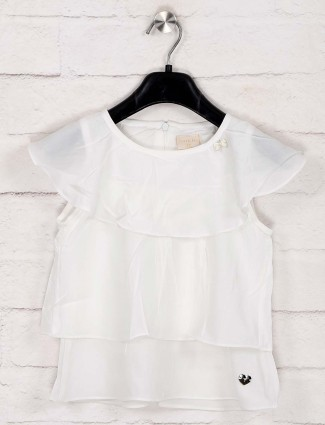 Tiny Girl presented white cotton top