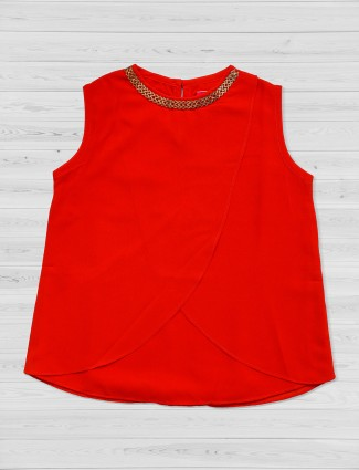 Tiny Girl red color plain top