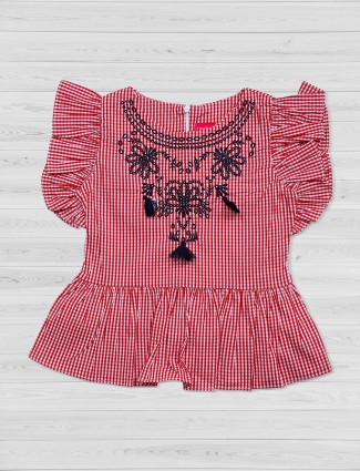 Tiny Girl red cotton top