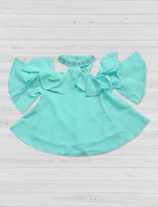 Tiny Girl sea green festive top