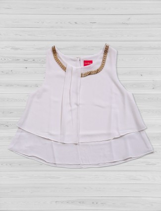 Tiny Girl white color crepe top