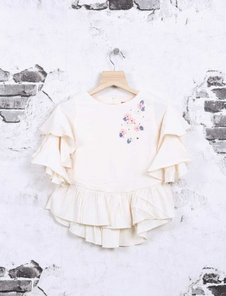 Tiny Girl white cotton top for girls