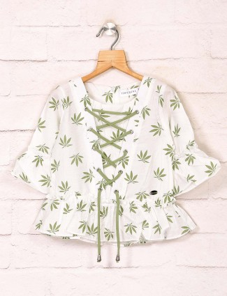 Tiny Girl white printed casual top