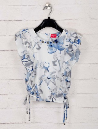 Tiny Girl white printed top for casual wear
