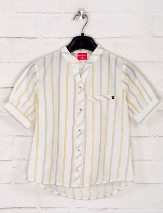 Tiny Girl white stripe cotton top