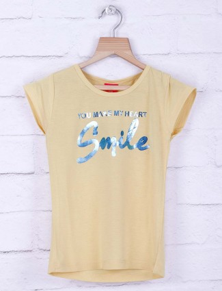 Tiny Girl yellow hue lovely cotton top