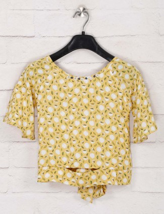 Tiny Girl yellow printed cotton top