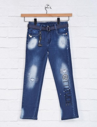 Tippy presented washed blue jeans