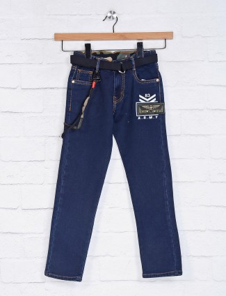 Tippy solid denim navy jeans