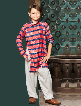 Tomatto red cotton pathani suit