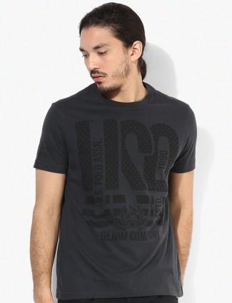 U.S.Polo cotton black t-shirt