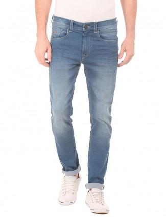 U S Polo Assn light blue solid jeans