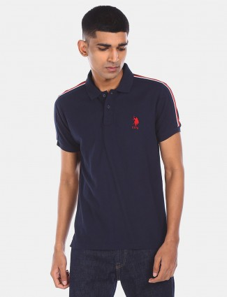 U S Polo Assn mens navy solid t-shirt
