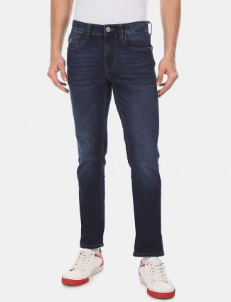 U S Polo Assn navy washed slim fit jeans