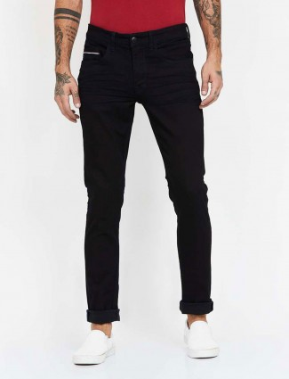 U S Polo Assn slim fit black solid casual jeans