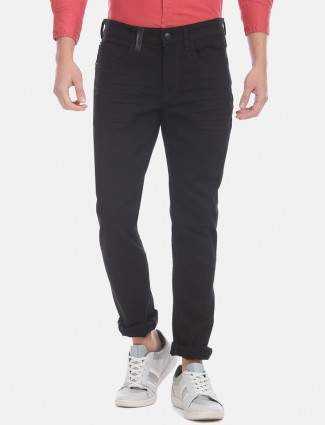 U S Polo Assn solid black slim fit jeans