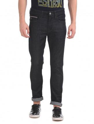 U S Polo black color slim fit jeans