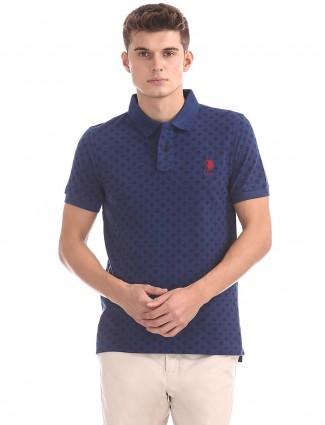U S Polo blue cotton t-shirt