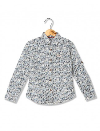 U S Polo casual cream shirt