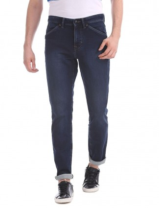 U S Polo casual wear solid navy jeans