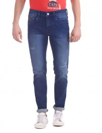 U S Polo denim blue casual jeans