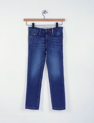 U S Polo denim blue plain jeans