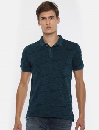 U S Polo blue printed casual t-shirt