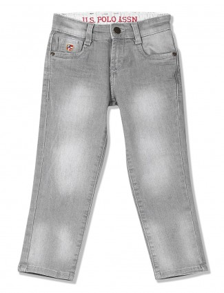 U S Polo grey color washed jeans