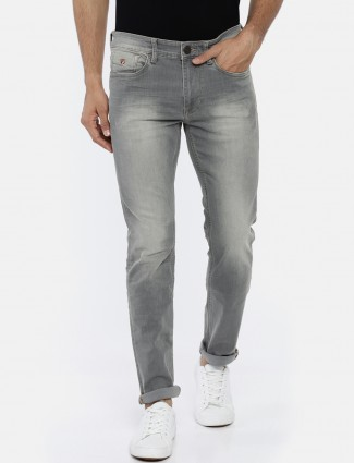 U S Polo grey washed casual jeans