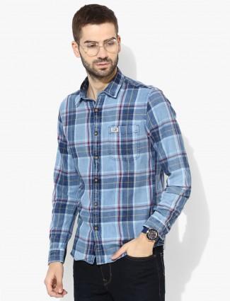 U S Polo light blue color denim shirt
