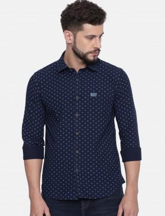 U S Polo navy color printed shirt