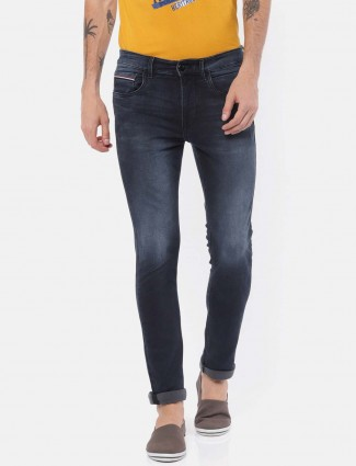 U S Polo navy colored washed jeans