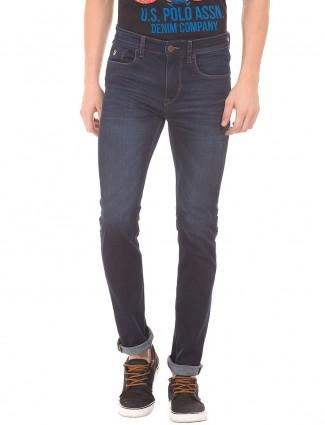 U S Polo navy slim fit jeans