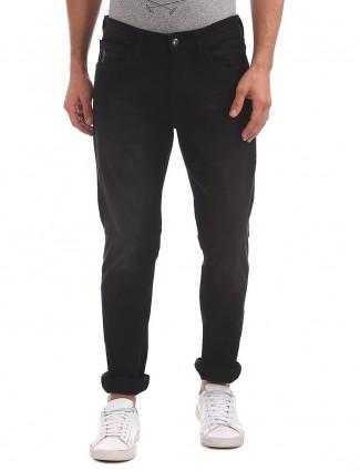 U S Polo plain black dark tone jeans