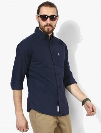 U S Polo plain navy shirt
