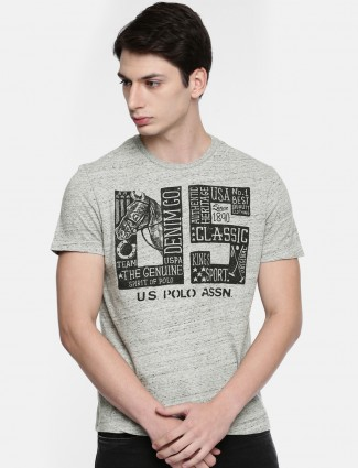 U S Polo simple casual grey t-shirt