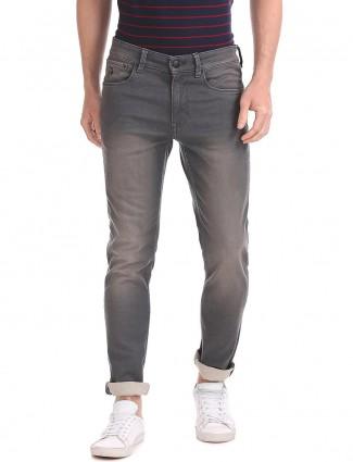 U S Polo simple grey color jeans