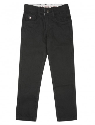 U S Polo solid black casual wear jeans